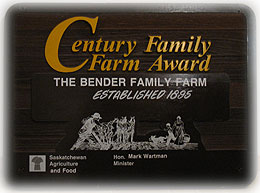 Bender Family Century Farm Sign